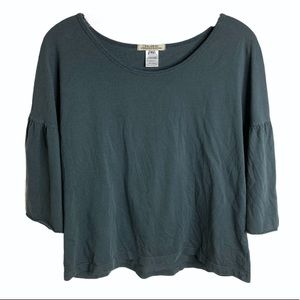 Prairie underground T-shirt with ruffle sleeves XS
